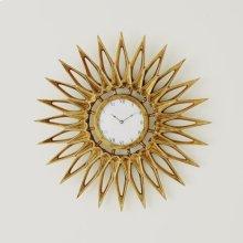 Dahlia Wall Clock-Brass