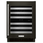 "Kitchenaid24"" Stainless Steel Wine Cellar with Metal-Front Racks - Black Stainless Steel with PrintShield(TM) Finish"