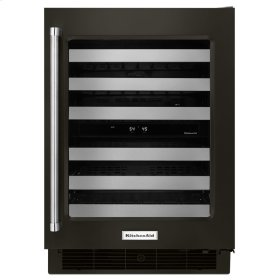 """24"""" Stainless Steel Wine Cellar with Metal-Front Racks - Stainless Steel with PrintShield™ Finish"""