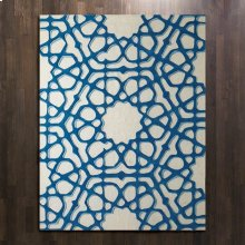 Rose Window Rug-Blue-9 x 12