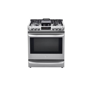 LG Appliances6.3 cu. ft. Smart wi-fi Enabled Dual Fuel Slide-in Range with ProBake Convection(R) and EasyClean(R)