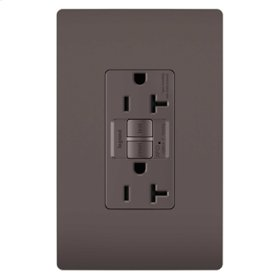 Tamper-Resistant 20A Outlet Branch Circuit AFCI Receptacle, Brown