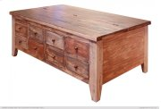 Cocktail Table w/8 Drawers on one side & hinged top storage on the other side Product Image