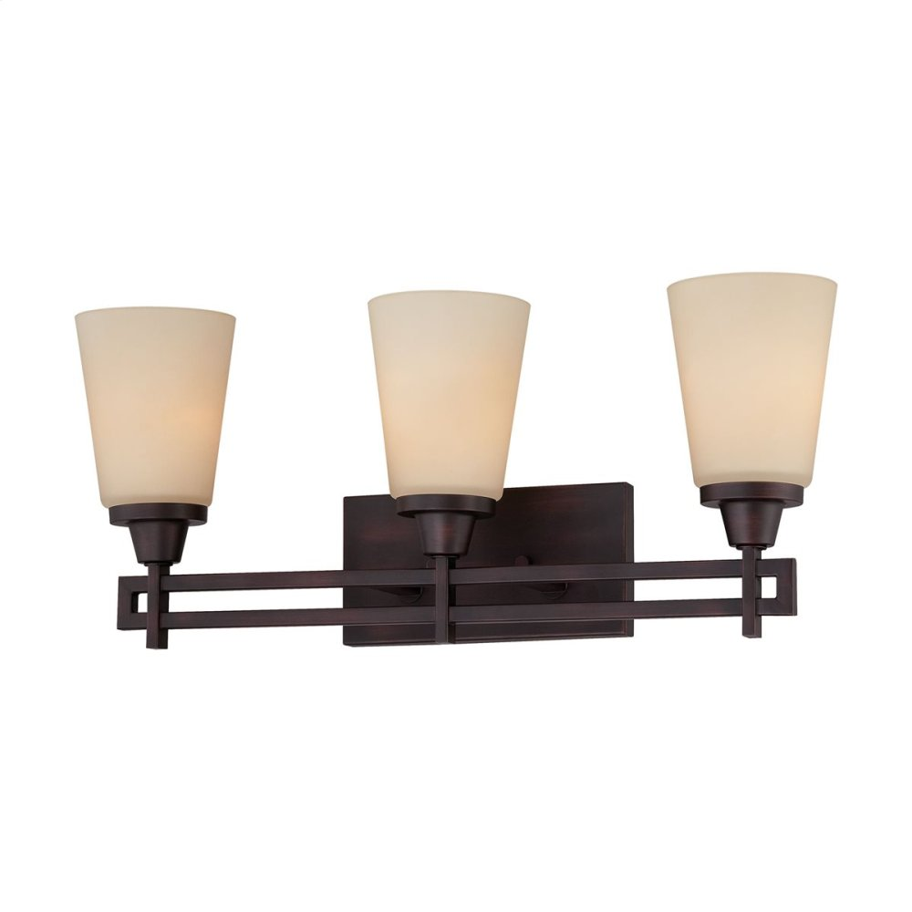 Wright 3-Light Wall Lamp in Espresso