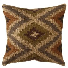 Olive, Tan, & Grey Kilim Pillow.