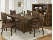 Cannon Valley Dining Height Storage Table With Six Chairs Product Image