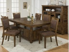Cannon Valley Dining Height Storage Table With Six Chairs