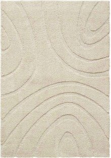 Jaspar Jasp1 Cream Rectangle Rug 5' X 7'