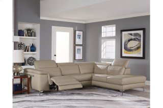 Cinque Leather Beige Power Reclining Sectional