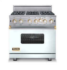 "36"" Custom Open Burner Range, Propane Gas, Brass Accent"