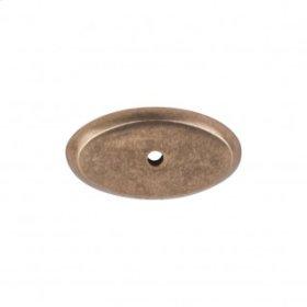 Aspen Oval Backplate 1 3/4 Inch - Light Bronze