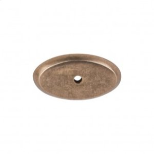 Aspen Oval Backplate 1 3/4 Inch - Light Bronze