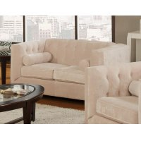 Alexis Transitional Almond Loveseat Product Image