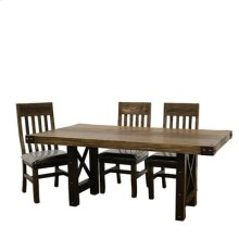 """Table : 72"""" x 39.5"""" x 30"""" Uptown Dining Table and Chairs"""
