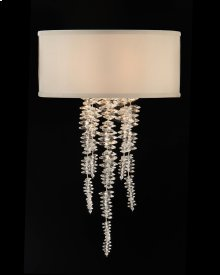 Cascading Crystal Waterfall One-Light Sconce