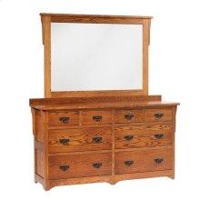 San Juan Mission Low Dresser- 1in Bevel Mirror