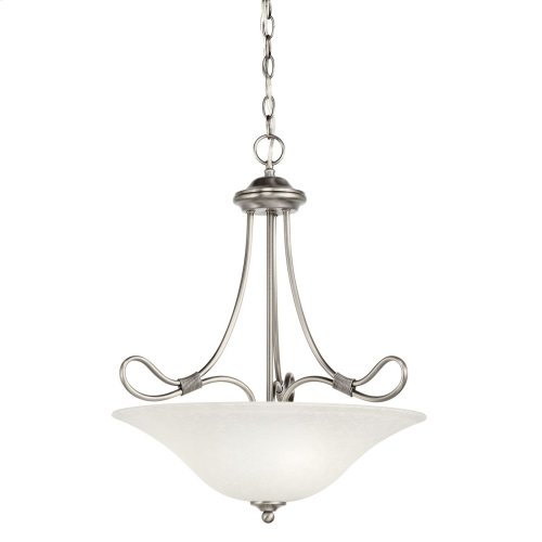 Stafford 3 Light Inverted Pendant Antique Pewter