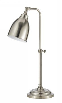 60W metal pharmacy table lamp w/adjustable pole and swivel head (takes CFL bulb)