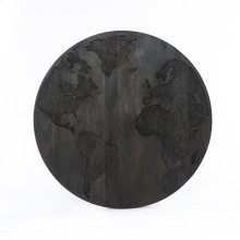 Carved World Map Panel