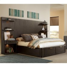 Precision - King/california King Tall Headboard - Umber Finish