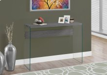 ACCENT TABLE - GREY WITH TEMPERED GLASS