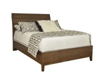 Queen Wood Plank Bed with Wooden Base Product Image