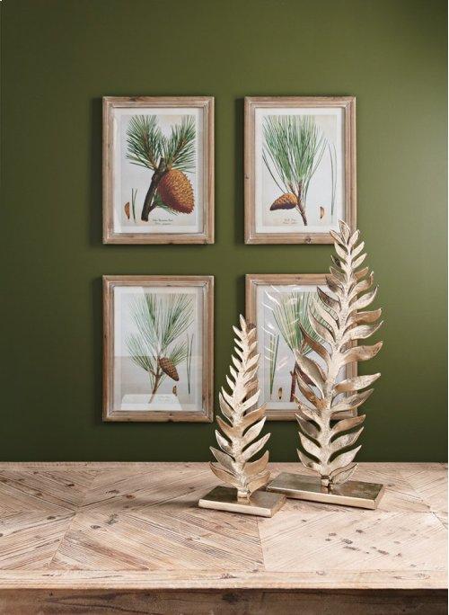 Evergreen Botanical Wall Decor - Ast 4