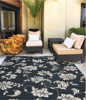 Home & Garden Rs014 Blk Rectangle Rug 10' X 13'