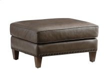 Hughes Leather Ottoman