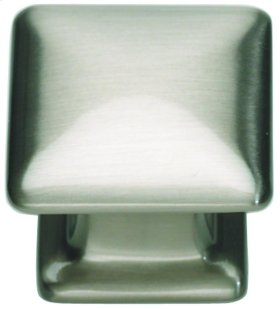 Alcott Square Knob 1 1/4 Inch - Brushed Nickel