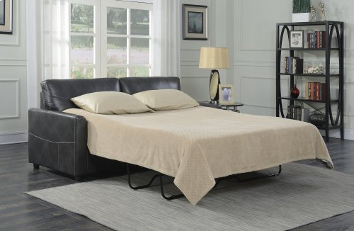 Emerald Home Slumber Queen Sleeper W/gel Foam Mattress Charcoal U3215-50-13