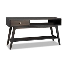 Tribeca Sofa Table with Drawer & Open Space & Shelf