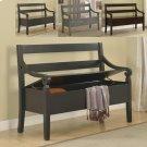 Kennedy Storage Bench Black Product Image