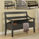 Kennedy Storage Bench Black Product Image