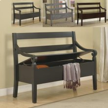 Kennedy Storage Bench Black