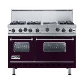 """Plum 48"""" Open Burner Range - VGIC (48"""" wide, six burners 12"""" wide char-grill)"""