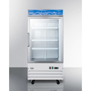 SummitUpright Commercial Display Freezer With Digital Thermostat, Frost-free Operation, and Self-closing Glass Door; Replaces Scfu1210