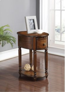 Oval Chairside Table w/ Power Outlet