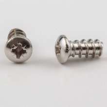 6.3 mm x 13.2 mm Nickel Plated #2 Pozi Drive 9 mm Pan Head Euro Screw Sold by the Box