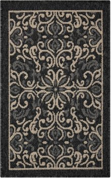 Caribbean Crb12 Charcoal Rectangle Rug 1'9'' X 2'9''