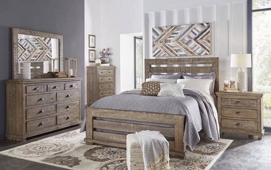 queen upholstered headboard and frame crate 50 queen upholstered headboard weathered gray finish p63534 in by progressive furniture tylertown ms