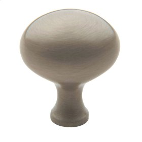 Satin Nickel Oval Knob