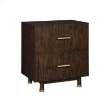 Light Brown Bamboo Nightstand