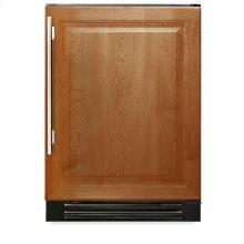 24 Inch Overlay Solid Door Wine Cabinet - Left Hinge Overlay Solid