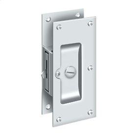 "Decorative Pocket Lock 6"", Privacy - Polished Chrome"