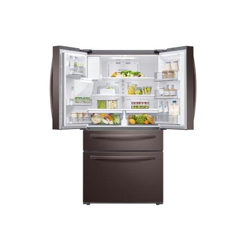 23 cu. ft. 4-Door French Door, Counter Depth Refrigerator with FlexZone Drawer in Tuscan Stainless Steel