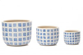 Block Island Cachepot - Set of 3