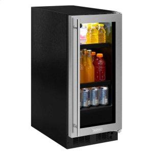 Marvel15-In Built-In Beverage Center with Door Style - Stainless Steel Frame Glass, Door Swing - Right