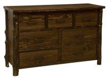 Seven Drawer Dresser Modern Cedar, Premium