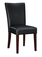 """Black Bonded Leather Parsons Chair, 20-1/2"""" Seat Height Product Image"""